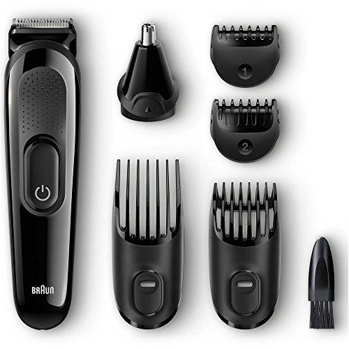 Braun 7-Piece Hair and Face Men's Trimming Grooming Kit