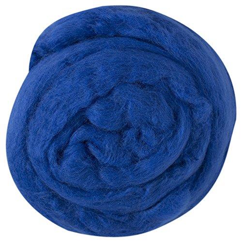 kartopu-felt-wool-176-oz-50g-needle-felting-wool-roving-100-wool-saks-blue-k530