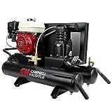 Air Compressor, Gas GX160 Honda Engine, 9 Gallon Wheelbarrow, Single Stage, 10.2 CFM, 5.5 HP (Campbell Hausfeld CE2000)
