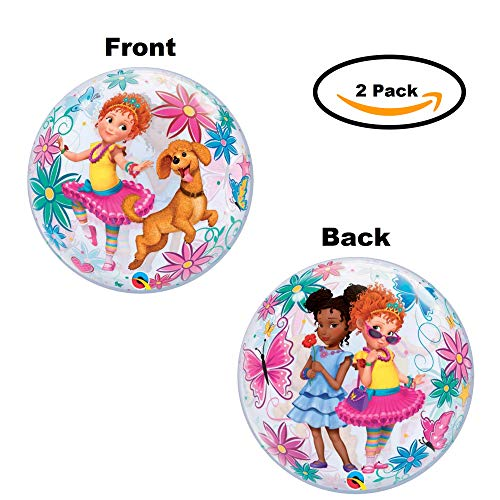 Fancy Nancy Balloon Decoration 2 Pack - Get 2 Birthday Party Supply Bubble Decor Balloons]()
