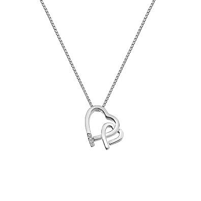 Hot Diamonds Faith Rose Gold Plated Accents Teardrop Pendant on a Chain of Length 55cm Vy2nE