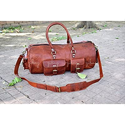 4f9b3faef196 good ZiBag 20 inch Genuine Vintage Leather Duffle Bag ~ Men Women ...
