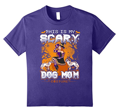 Price comparison product image Kids This Is My Scary Dog Mom Costume Halloween Shirt 12 Purple