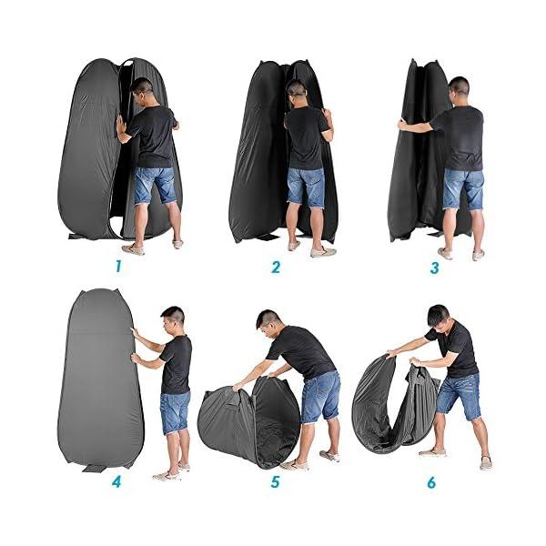 51ahiBgCNjL Neewer 6 Fuß / 183cm Tragbare Innen Außen Foto Studio Pop- Up Wechsel Umkleide Zelt Zimmer mit Tragetasche