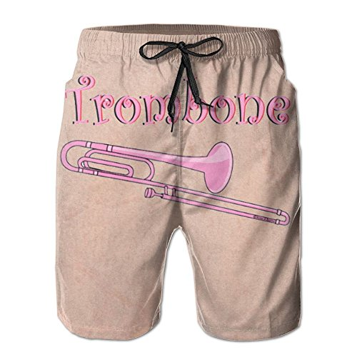 JINYIPI Board Shorts Trombone Men's Quick Dry Classical Colorful Swim Trunk Beach Boardshorts