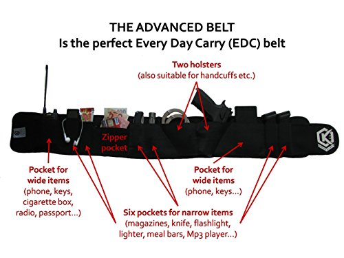 Special designed EDC belly band holster for even quicker drawing the guns - Concealed carry - Extremly comfortable – Holster fits from Full size to Subcompact guns + sunglasses strap - In Sunglasses Sizes Come Do