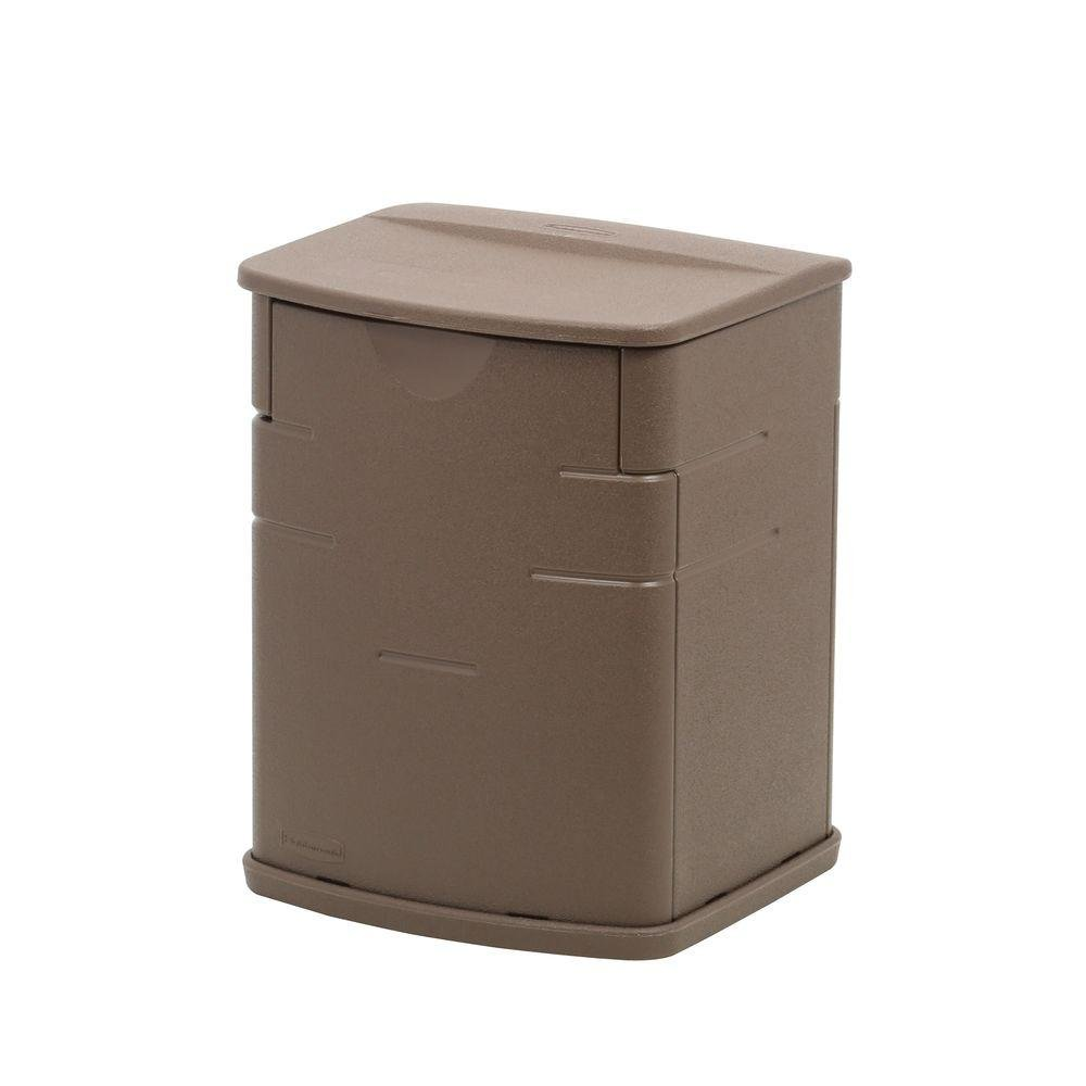 Rubbermaid Deck Storage Box, Mocha, 2.6 Cubic Feet (1828823)