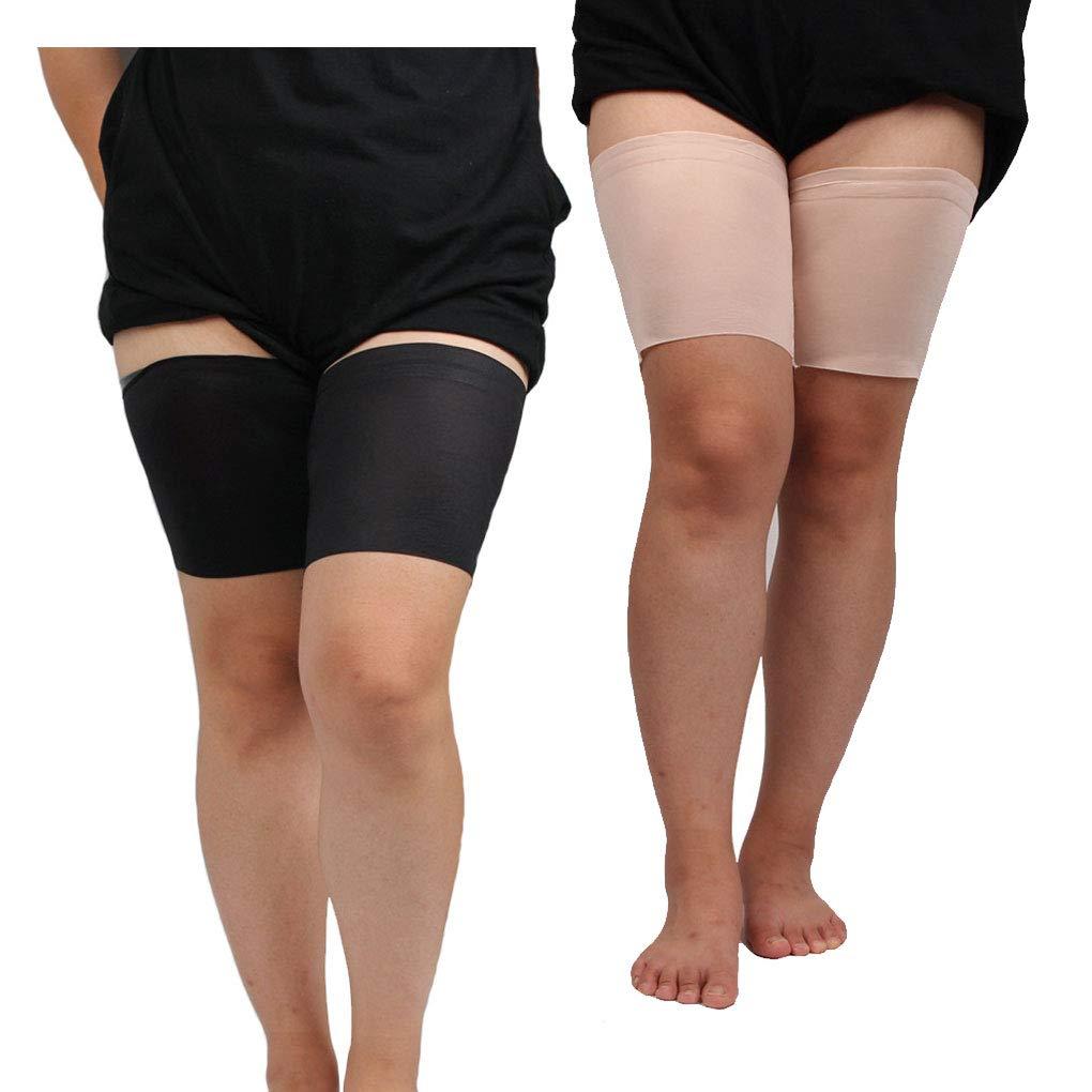 Dpolrs Donne antiscivolo in silicone Leg manicotto elastico anti-attrito solido Yoga coscia Banda