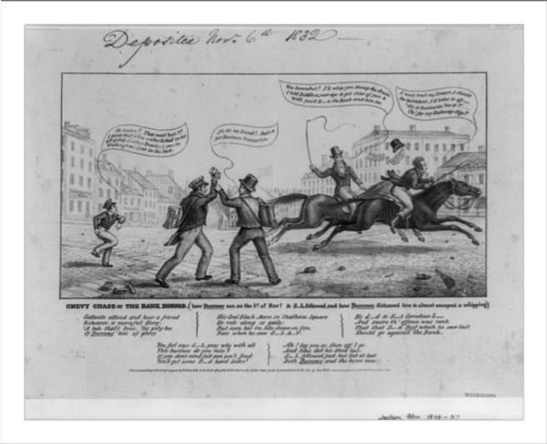 Historic Print (L): Chevy Chase or the bank runner (how Burrows ran on the 1s...