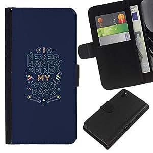 iBinBang / Flip Funda de Cuero Case Cover - Back Find Quote Inspirational - Sony Xperia Z3 D6603 / D6633 / D6643 / D6653 / D6616