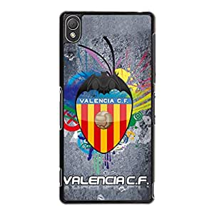 Amazing Visual Cover Shell Valencia FC Logo Phone Case Snap on Sony Xperia Z3 Valencia CF Logo Case