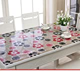 Soft pvc,soft glass table-cloth/table mat /tea table mats-G 85x135cm(33x53inch)