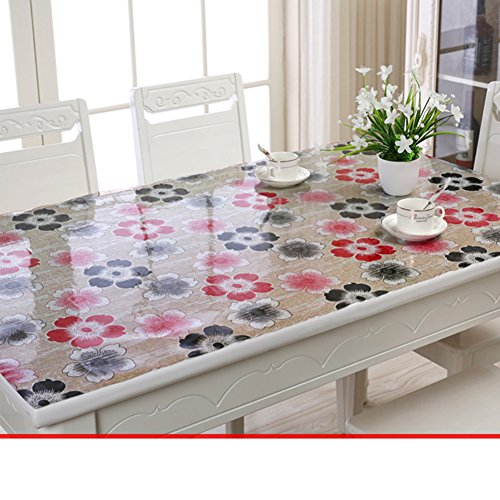 Soft pvc,soft glass table-cloth/table mat /tea table mats-G 85x135cm(33x53inch) by LWZY TableCloths