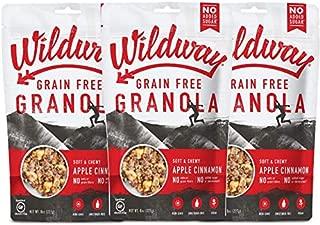 product image for Wildway Keto, Vegan Granola | Apple Cinnamon Granola | Certified Gluten Free Granola Breakfast Cereal, Low Carb Snack | Paleo, Grain Free, Non GMO, No Added Sugar | 8oz, 3 pack