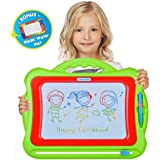 Magnetic Drawing Board for Toddlers, Magna Doodle Toy   16X13 Large Nontoxic Erasable Magnadoodle   Big Colorful Pad for Writing and Drawing + Small Magic Aqua Mat   Best Gift for Kids, Girls & Boys
