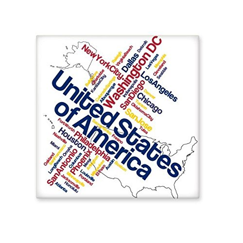 durable service USA America Map City Name Country Written Words Pattern Ceramic Bisque Tiles for Decorating Bathroom Decor Kitchen Ceramic Tiles Wall Tiles