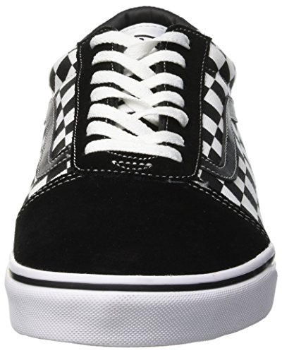 White Ward true Vans Basses Suede canvas Sneakers Black Homme checker Pvj Noir Zxn1Fwaxqd
