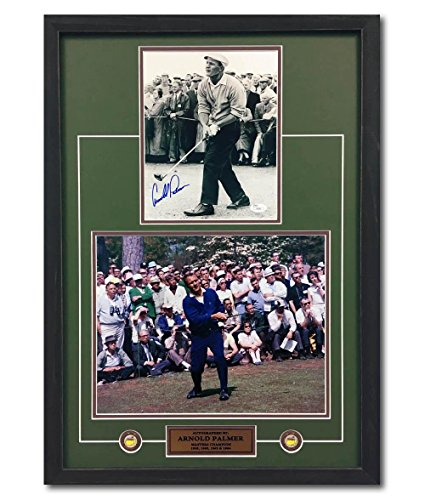 Autographed Arnold Palmer Photo - The Masters Champion Collage 28x20 Frame - Autographed Golf Photos