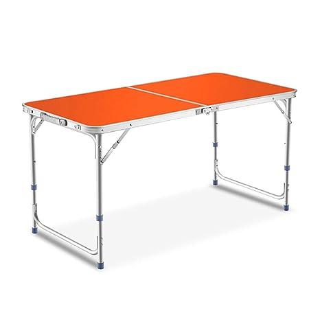 Mesa impermeable plegable Ajustable en altura Mesa de aluminio ...