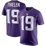 Majestic Athletic Men's Minnesota Vikings Adam Thielen Player Pride Name & Number T-Shirt - Purple