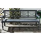 Safavieh Outdoor Living Karoo Ash Grey Acacia Wood Garden Bench