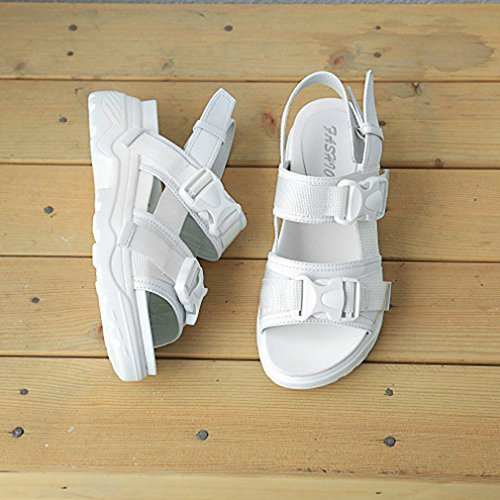 Summer Sandals Wear Heel Casual Mid Straps Hiking Athletic White Womens Platform Outdoor Beach Walking 08q5p6