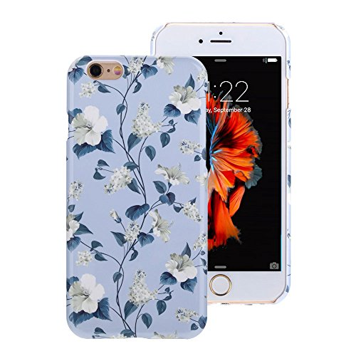 iPhone 6 Floral Hülle, GMYLE Floral Case Cover Für iPhone 6 / 6s 4.7 inch - lila Floral Pattern Schlank Hülle Tasche