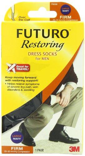 Futuro Restoring Navy Dress Socks