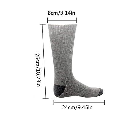 Yunhigh Calcetines térmicos para Hombres Mujeres Recargable, térmica, con Aislamiento térmico, algodón, calcetín Calentador de pies, Clima frío para pies ...