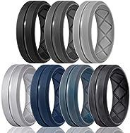 Egnaro Inner Arc Ergonomic Breathable Design,Silicone Rings for Men, 7 Rings / 4 Rings / 1 Ring-Breathable Rub