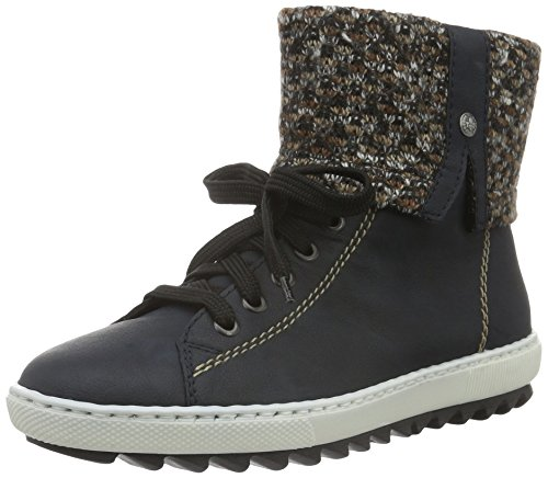 Damen Terra 14 Blau Pazifik Rieker Y8443 High Top BSa4z1zq
