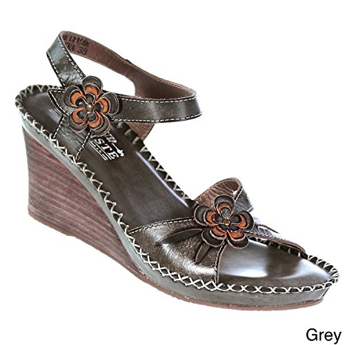 LILITH L'ARTISTE EU ITALY IN 37M BY WOMENS MADE FASHION BROWN SANDAL rqwO61rT
