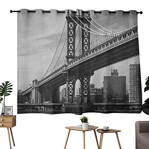 (Mannwarehouse New York Privacy Curtain Bridge of NYC Vintage East Hudson River Image USA Travel Top Place City Photo Art Print Privacy Protection 72