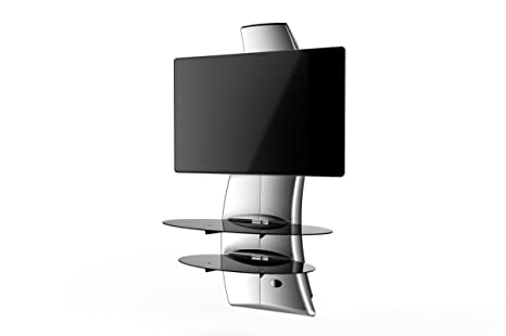 Meliconi Ghost Design 2000 Supporto Per Tv Lcd Al Plasma.Meliconi Ghost Design 2000 Silver Supporto Da Muro Per Tv Da 32 A 65