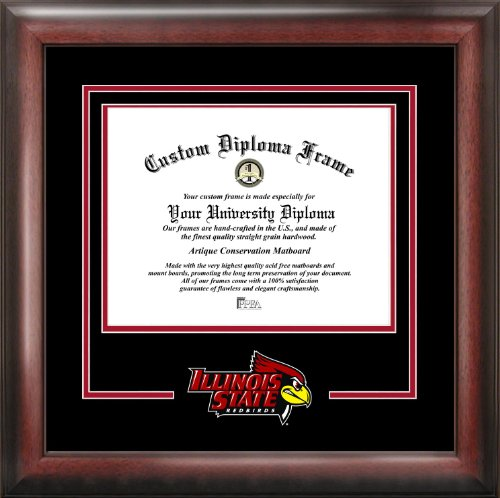 Illinois University Diploma Frame - Campus Images IL966SD NCAA Illinois State Redbirds Spirit Diploma Frame, 8 x 10, Mahogany, 10W x 8H