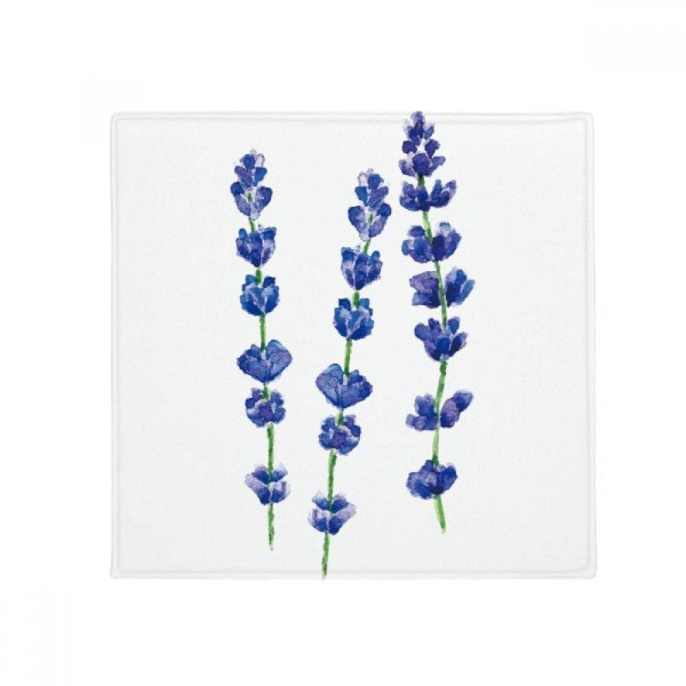 DIYthinker bluee Lavender Flower Plant Anti-Slip Floor Pet Mat Square Home Kitchen Door 80Cm Gift