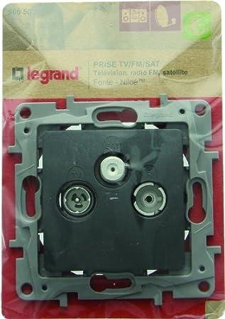 Legrand LEG96680 Prise TV-FM-SAT argent Niloe
