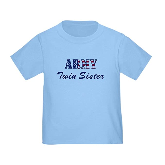 aacbedafa3 Amazon.com: CafePress - Army Twin Sister (Patriotic) Toddler T-Shir - Cute  Toddler T-Shirt, 100% Cotton: Clothing
