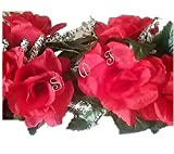 Wedding Flowers 22'' Rose Swag with Gyps Artificial Silk Home Party Decor (Red)