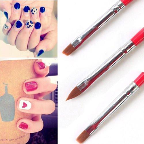3 pcs Dotting Painting Drawing Polish UV Gel Acrylic Nail Art Brush Pen Set -