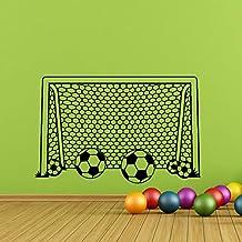 Boy Wall Decal Soccer Football Goal Net Decals Stickers- Soccer Wall Decal Football Vinyl Stiskers Sports Decor Kids Boy Nursery Art Q164