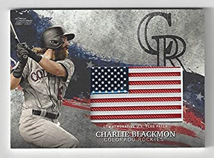 Charlie Blackmonmlb Independence Day Us Flag Patch Card