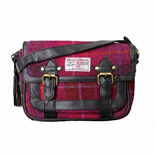 Harris Tweed Womens/ladies Authentic Premium Shoulder Strap Satchel (one Size) (cerise) Utbag139_1