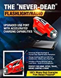 Emergency-Flashlight-Radio-Accelerated-Charging-Capabilities-via-USB-Solar-Hand-Crank-Dynamo-and-Self-Powered-Bright-LED-Rechargeable-Unlimited-3-Year-Warranty