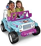 Power Wheels Disney Frozen Jeep Wrangler, Baby Blue/Purple