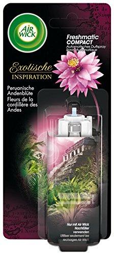 AirWick Freshmatic Compact Automatisches Duftspray Nachfüller Peruanische Andenblüte, 2er Pack (2 x24 ml)