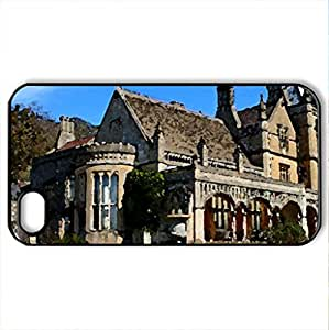 Victorian Luxury - Case Cover for iPhone 4 and 4s (Houses Series, Watercolor style, Black)