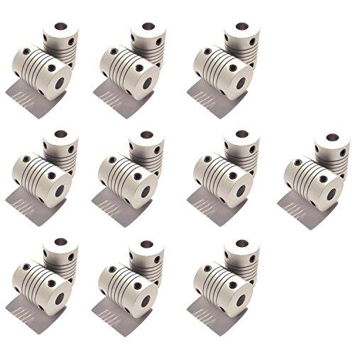 Optimus Electric 20pcs Circular Coupling Hub for 4mm Motor Shafts from