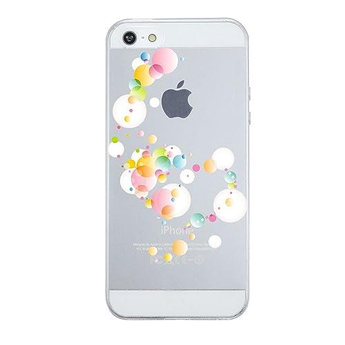 Pacyer® Custodia iPhone 5/5s/SE (4.0 pollici) alberi e Bubble disegno Trasparente TPU Silicone Morbi...