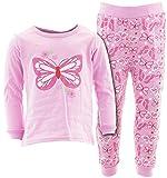 Sweet & Soft Little Girls' Pink Butterfly Flower Cotton Pajamas 3T